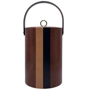 Vintage Leather Ice Bucket MCM Barware
